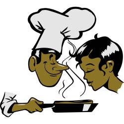 cuisinier et cliente